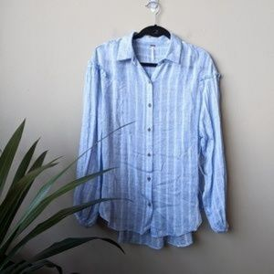 Free People Tops - Free People Headed To The Highlands Button Down